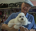 customer with poodle